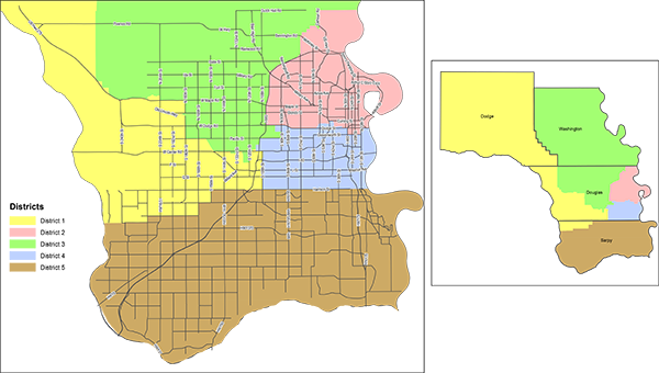MCC Election Districts Map