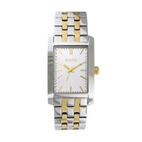 Bulova Corporate Collection Men's Two-Tone Bracelet Watch