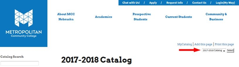 2017-18 MCC Catalog header