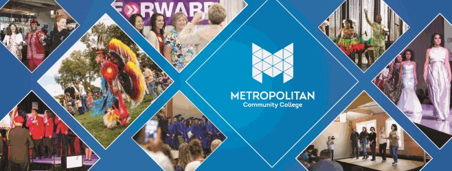 A collage of photos from past Metropolitan Community College events