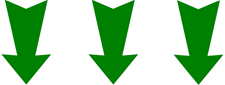 three green arrows