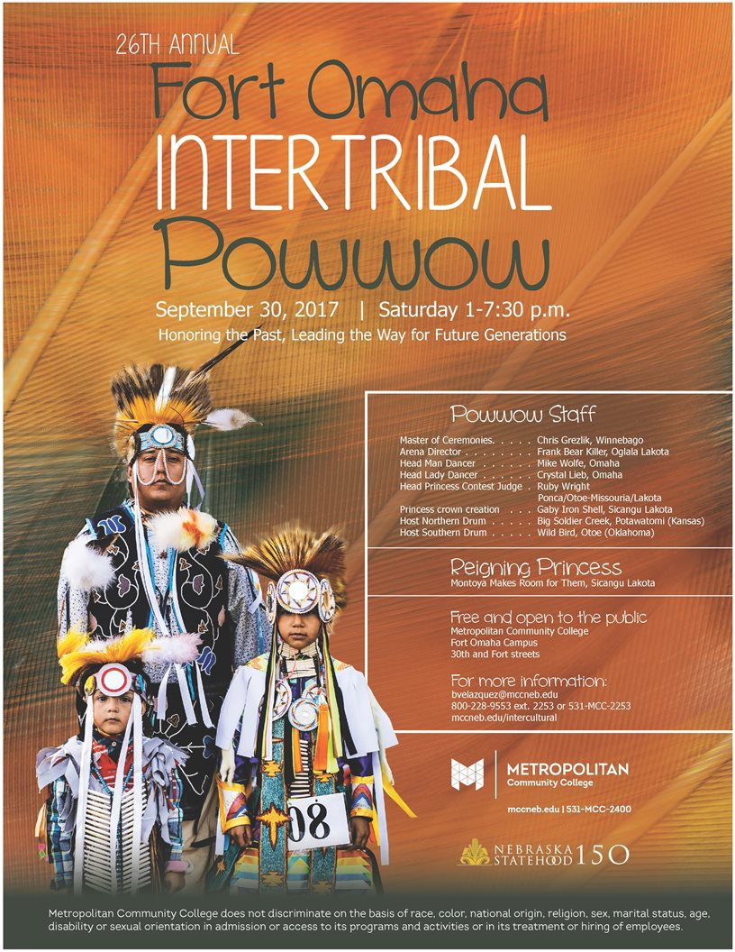 Fort Omaha Intertribal Powwow, Saturday, September 30 poster