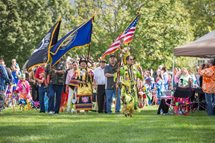 Grand entry photo Fort Omaha Intertribal Powwow